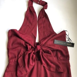 NWT House Of Harlow Red Halter Jumpsuit